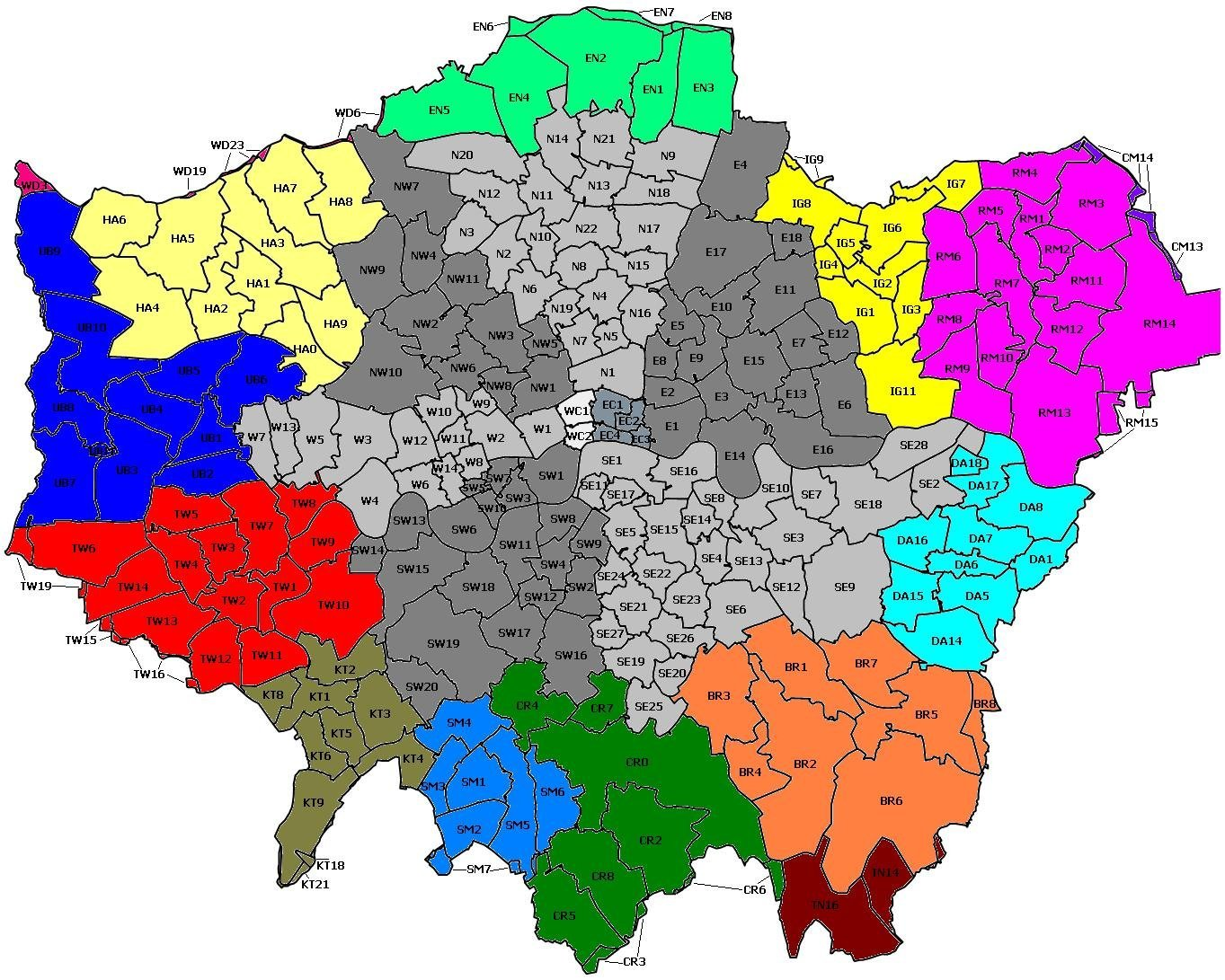 Postal areas of London