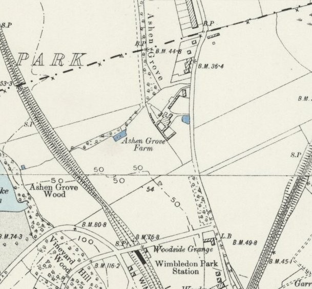 Map of the area dating from the turn of the 20th century