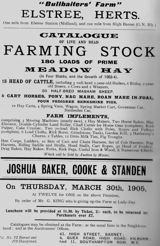 Bullbaiter's Farm Sale (1905)