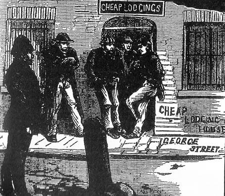 Common lodging house in George Street, from the Illustrated Police News, 15 September 1888.