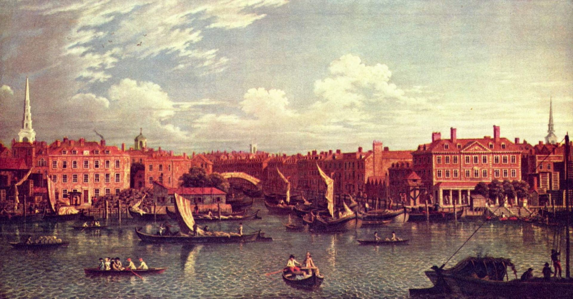 Entrance to the Fleet River, c. 1750
