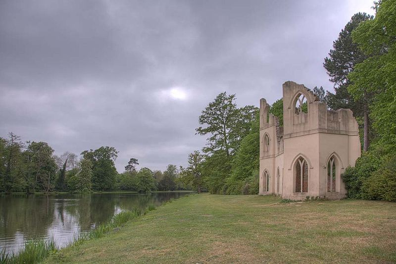 "Painshill ""Abbey"", one of the surviving original follies."