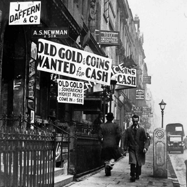 Hatton Garden during hard times, 1939