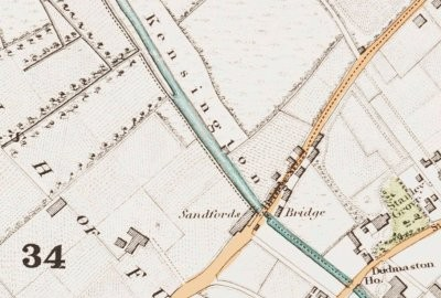 Map of the Kensington Canal area.