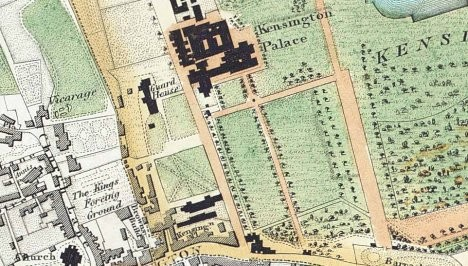 Early map of Kensington Palace