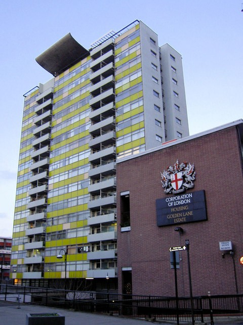 Great Arthur House, at the centre of the Golden Lane Estate, was the tallest residential building in Britain at the time of its construction.