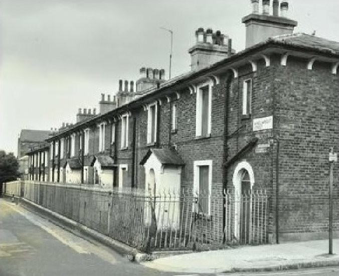 The former Pentonville Cottages awaiting demolition