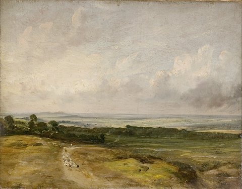 Child's Hill: Harrow in the Distance -  (1825) Victoria & Albert Museum.