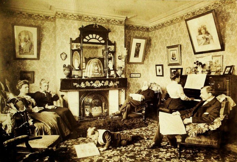 Middle class family living in Muswell Hill. c1890.