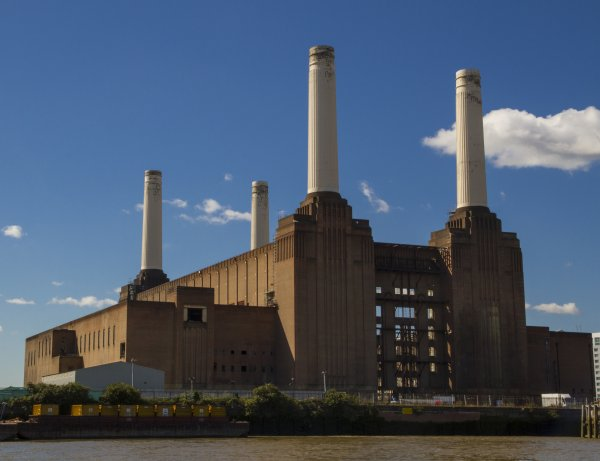 Battersea Power Station view from River Thames (2012)