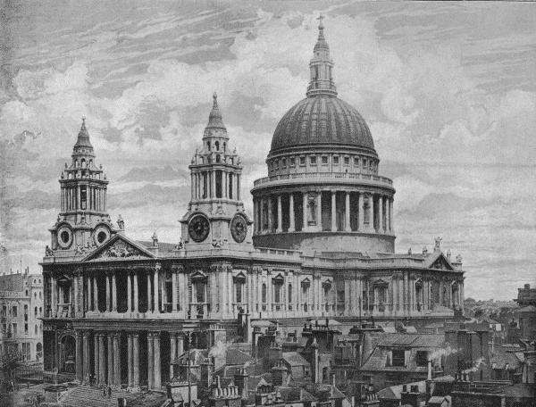 St Paul's from the south west in 1896