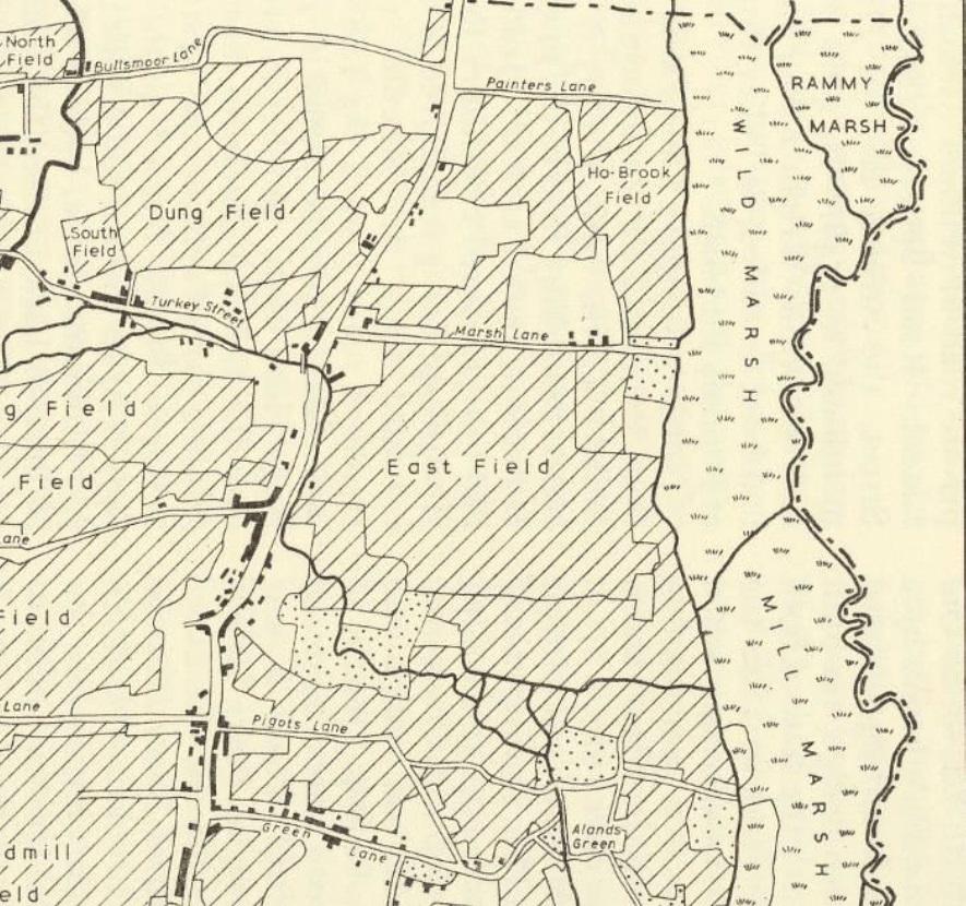 OLD ORDNANCESURVEY MAP THE HAWTHORNS 1886